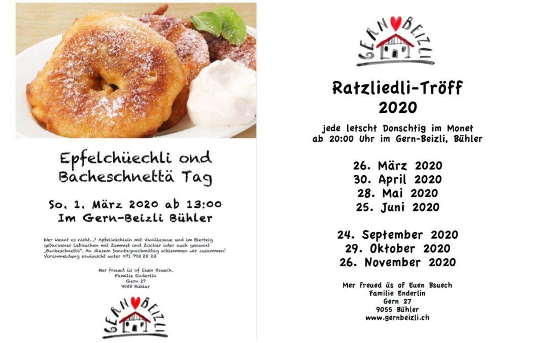 Ratzliedli & Apfelchüechli