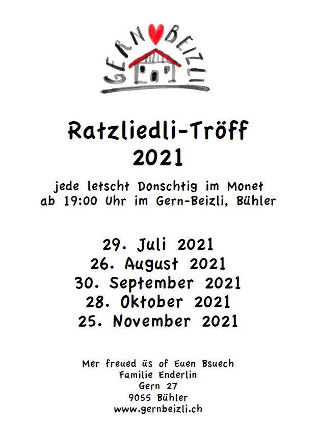 Ratzliedli singen im Appenzellerland
